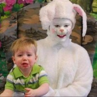 How to Get a Good Pic of Your Kid and the Easter Bunny