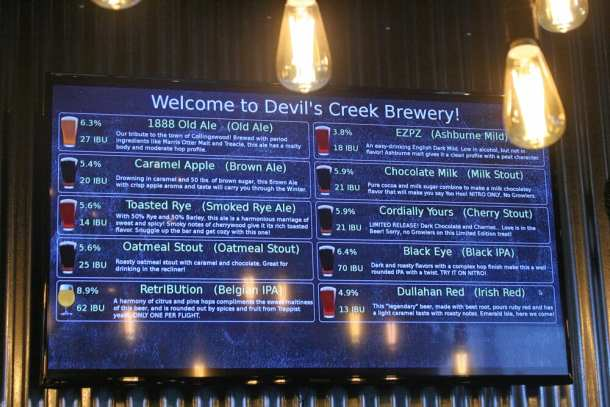 devil's creek brewery
