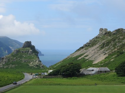 Walking towards the car park at the Valley of the Rocks