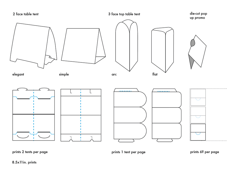 Microsoft Templates Table Tents