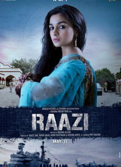 Raazi movie poster