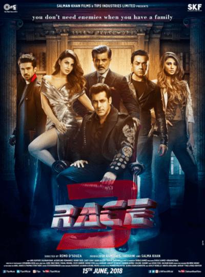 रेस 3 movie poster