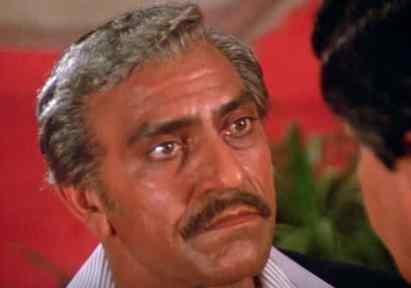 Amrish Puri as a villain in the movie