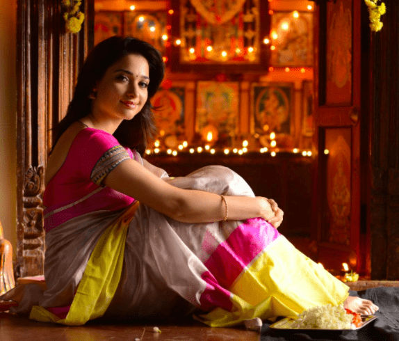 A striking sitting pose from the movie Veeram