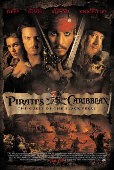 Pirates of the Carribbean: The curse of the black pearl movie poster