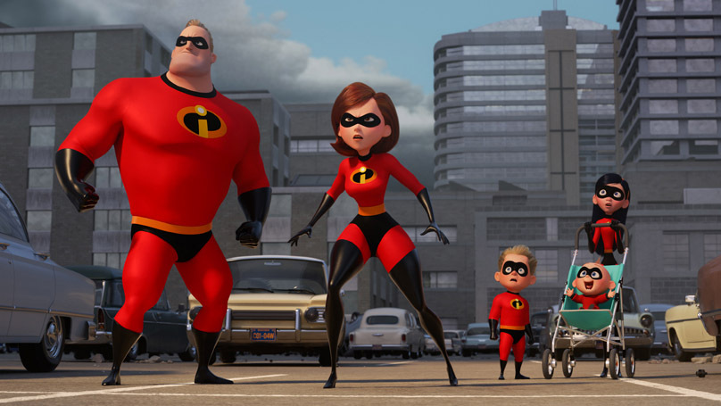 A still from the movie Incredibles 2