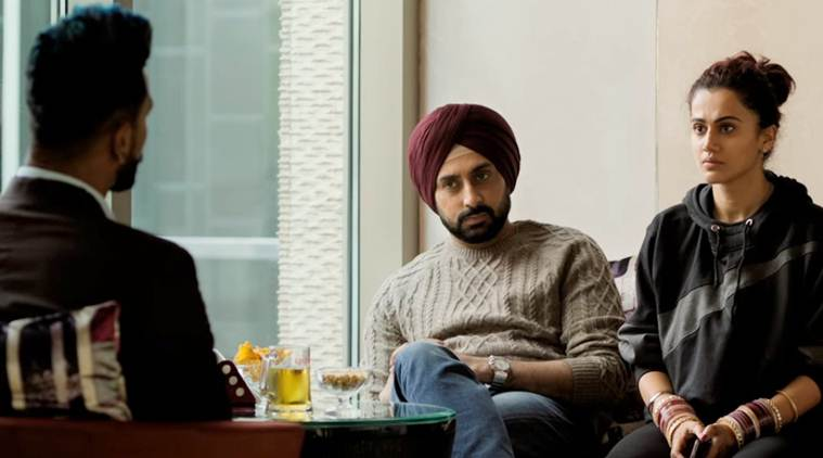 Abhishek Bachchan, Taapsee Pannu, and Vicky Kaushal in Manmarziyaan