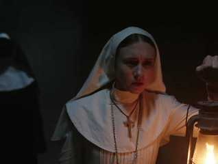 A still from the movie, The Nun