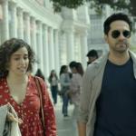 Sanya Malhotra and Ayushmann Malhotra in Badhaai Ho