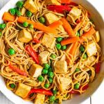 One-pot Ramen Tofu Veggie Stir-fry