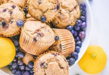 One-Bowl Vegan Blueberry Muffins