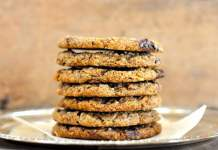 Salted Chocolate Chip Tahini Cookies