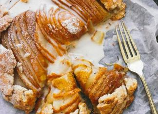 Vegan Pear Galette with a Rooibos Glaze