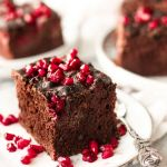 Vegan Chocolate Cake with Sweet Potato and Raspberries