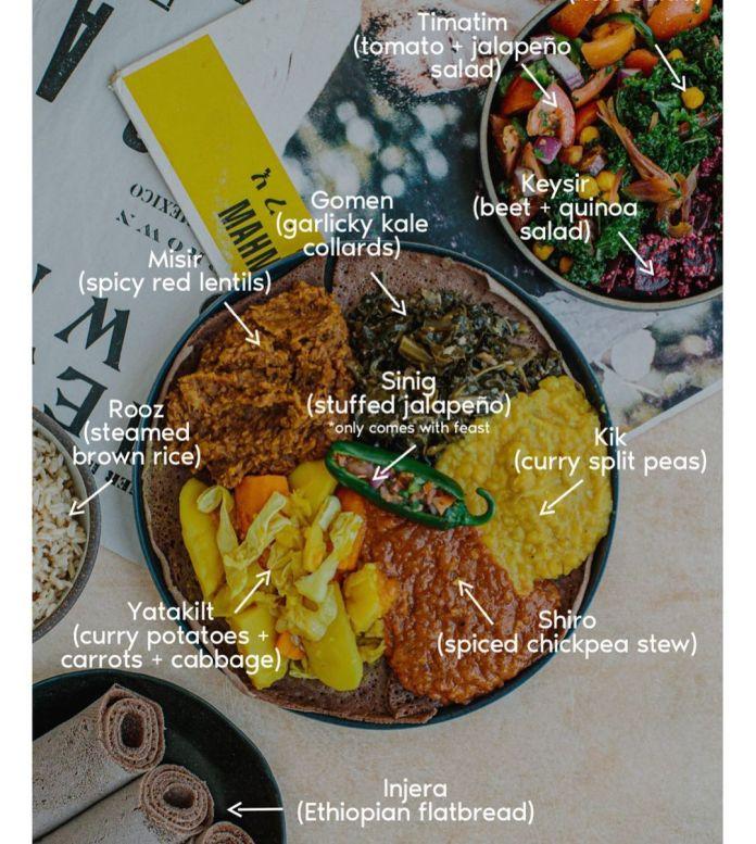 An Exploration of Vegan Ethiopian Cuisine: vegan yetsom beyaynetu