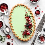 Vegan Peppermint White Chocolate Tart with Gluten-Free Gingerbread Crust