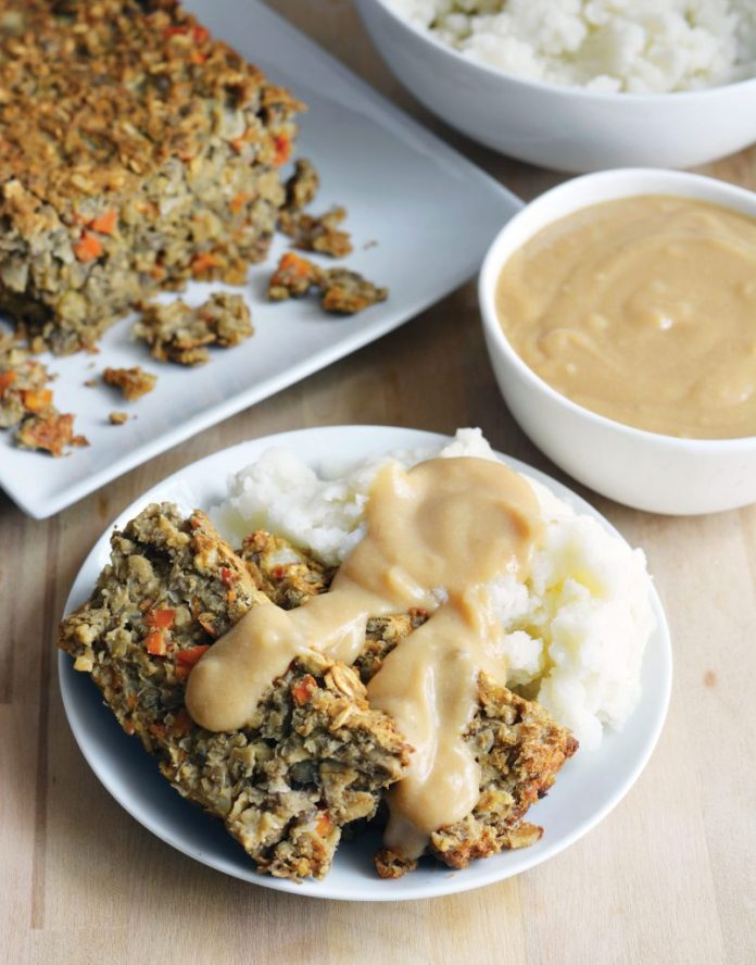 15+ Last Minute Savory Vegan Christmas Recipes: Chickpea Lentil Loaf
