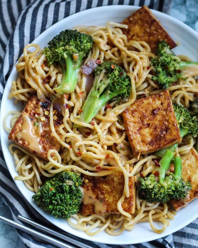 Vegan Peanut Noodle Bowl