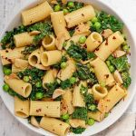 Spicy Garlicky Lemony Kale Pasta