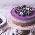 No-bake Blueberry, Mint, and Chocolate Cake