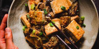 Tofu and Eggplant Ginger Stir Fry