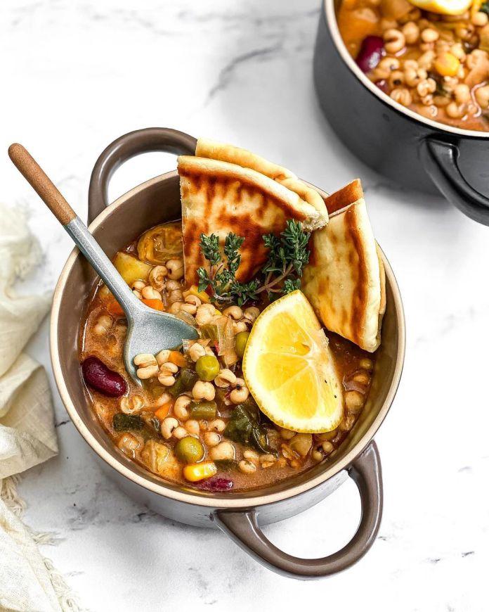 Vegan Uzbek Cuisine: Pearl Barley Soup (Kocha Suyugh Osh)