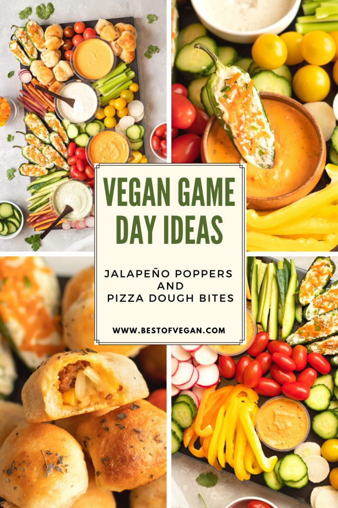 Vegan Game Day: Jalapeño Poppers and Pizza Dough Bites