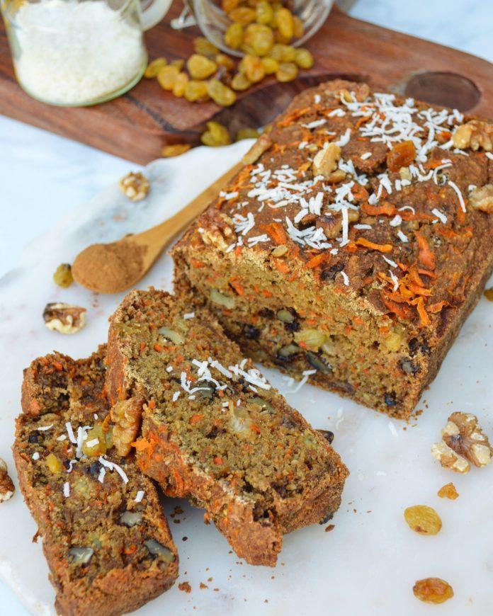 vegan carrot cake bread