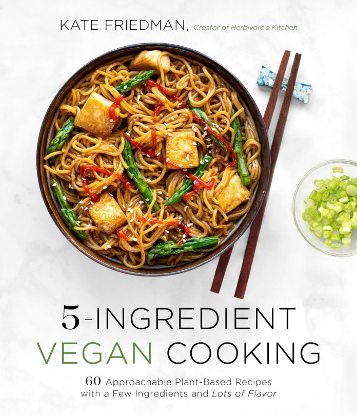 5-Ingredient Vegan Cooking by Kate Friedman book cover