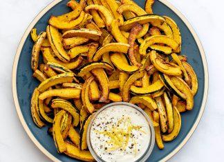 Vegan Delicata Squash Fries from Kate Friedman's 5-Ingredient Vegan Cooking
