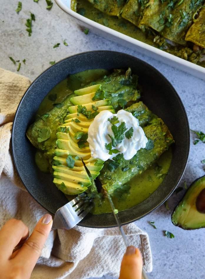 Vegan Enchiladas Verdes