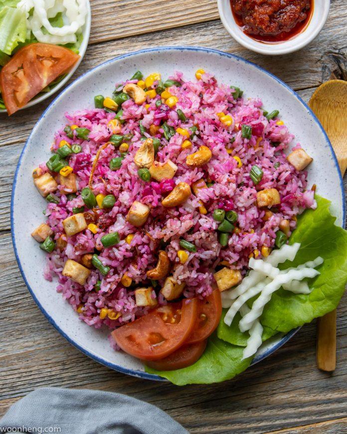 Vegan Fried Rice with Dragonfruit