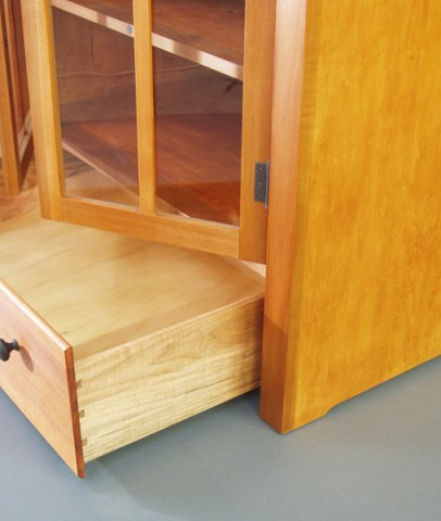 Dovetails in the drawer and rare-earth magnets in the door make this cabinet both practical and easy on the eye.