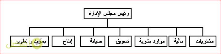 الهيكل الوظيفي نموذج هيكل تنظيمي لشركة مقاولات
