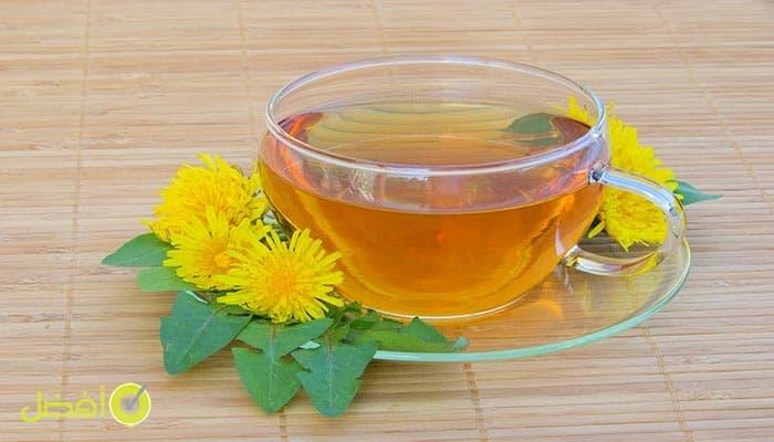 شاي الهندباء علاج سريع للامساك بالاعشاب