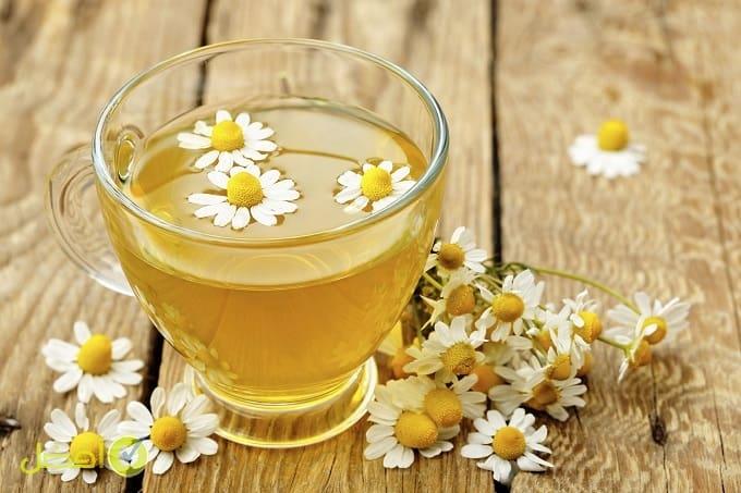 شاي البابونج علاج رعشة اليدين لكبار السن