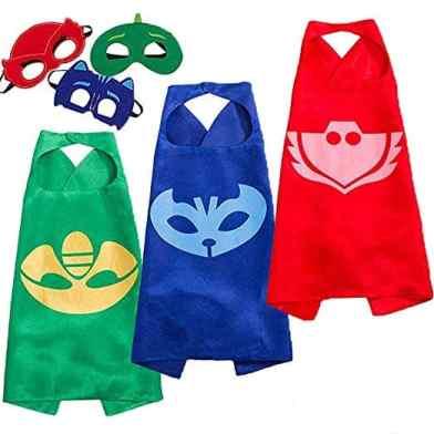 كوستوم بي جي ماسكس Funhall Capes and Masks for Catboy Owlette Gekko