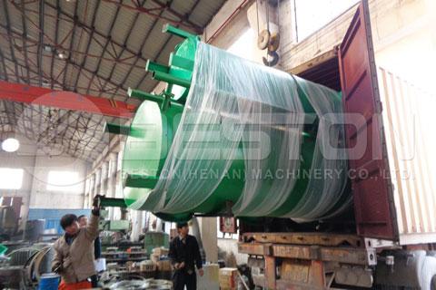 Charcoal Making Machine Shipped to Spain
