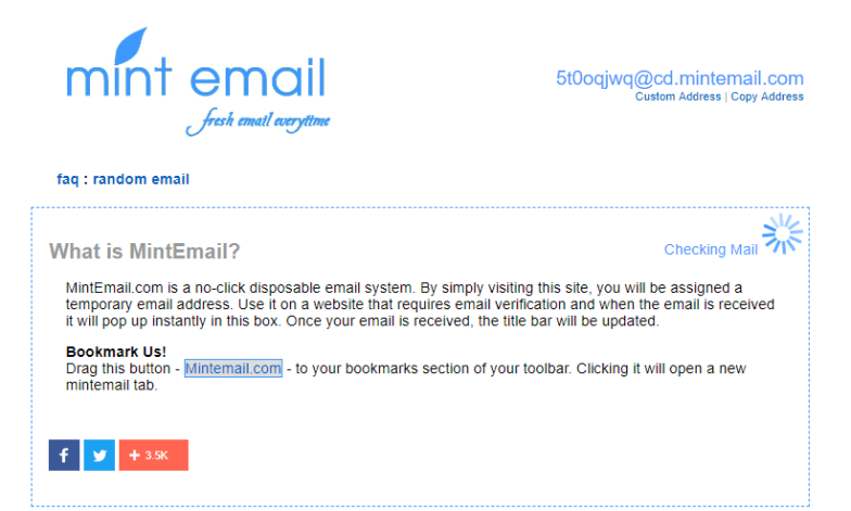 mint email site