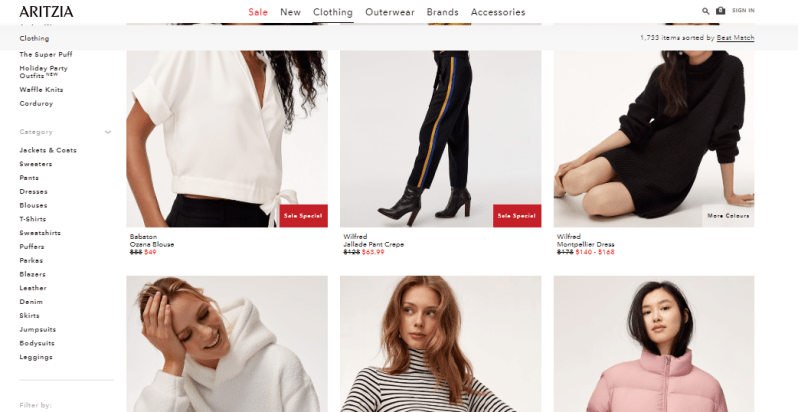 Aritzia cheap site for womens clothing