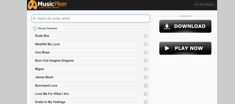 musicpleer site for online music