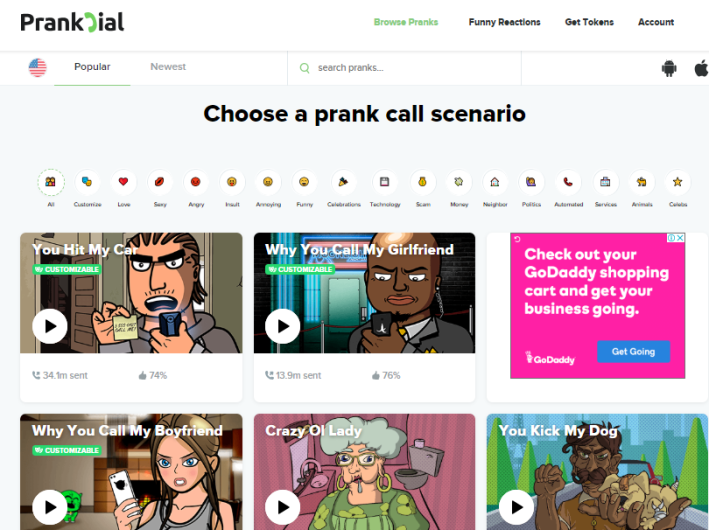 prankdial website for prank