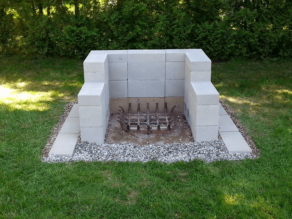 7 Awesome Cinder Block Fire Pit Ideas ... on Building Outdoor Fireplace With Cinder Block id=97871