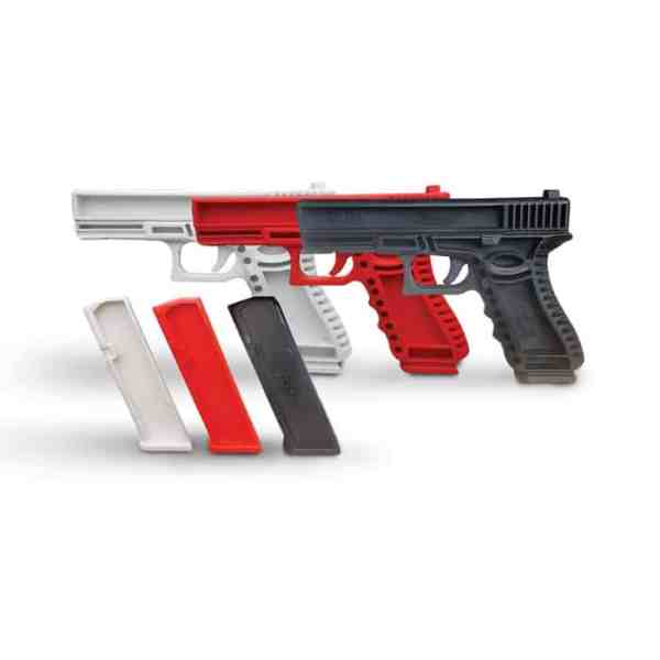 Red Glocl 17 demo gun