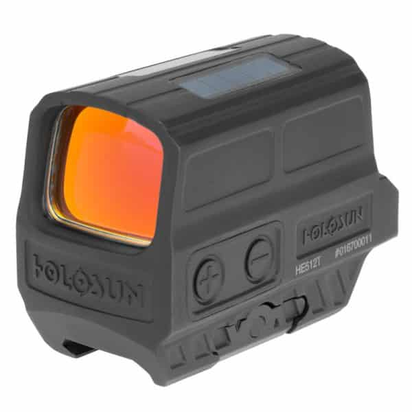 Holosun HE512T-GR Green Dot / Circle Dot Reflex Sight With Solar Panel And Titanium
