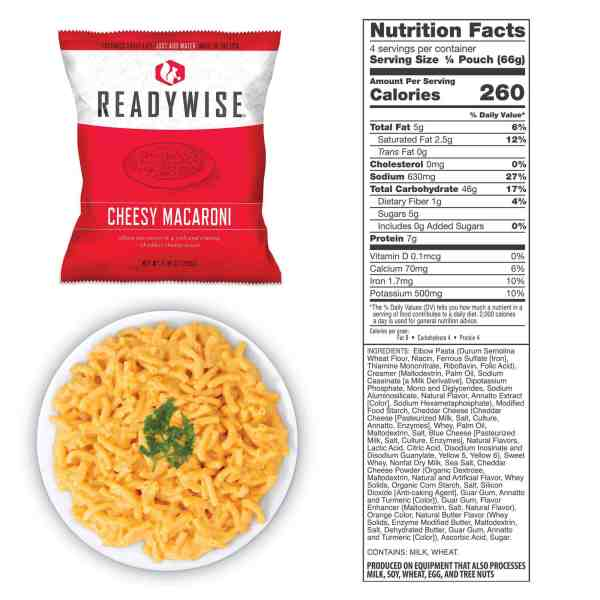 1 pouch of Cheesy Macaroni (4 total servings)