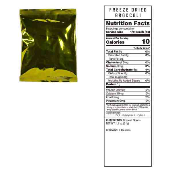4 pouches of Broccoli (8 servings ea.)