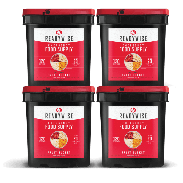 480 Servings of Freeze Dried Fruit - 4 Buckets