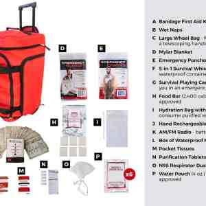 list of 1 Person Survival Kit (72+ Hours) Waterproof Dry Bag