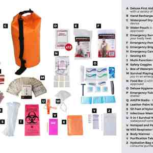 1 Person Elite Survival Kit (72+ Hours) Waterproof Dry Bag list